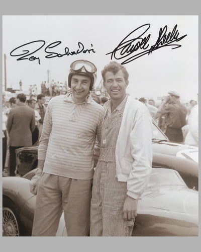 Roy Salvadori and Carroll Shelby sepia photograph 2