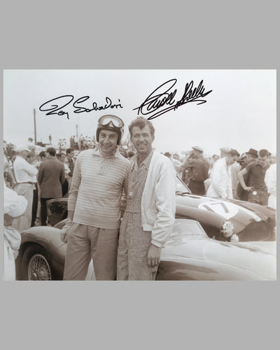 Roy Salvadori and Carroll Shelby sepia photograph