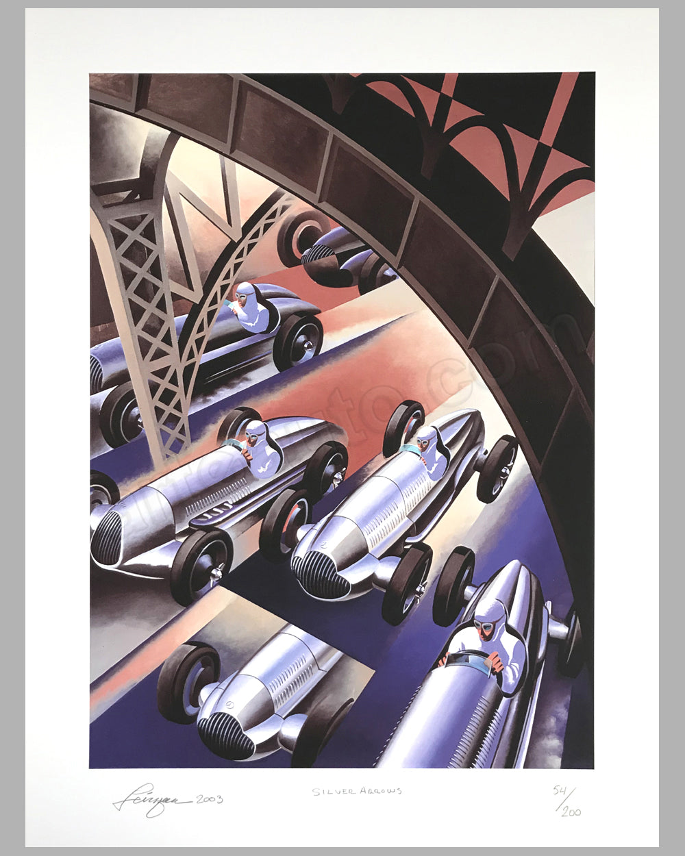 Silver Arrows giclée by Alain Lévesque
