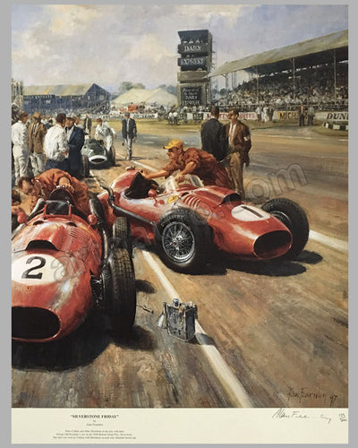 Silverstone Friday print by Alan Fearnley