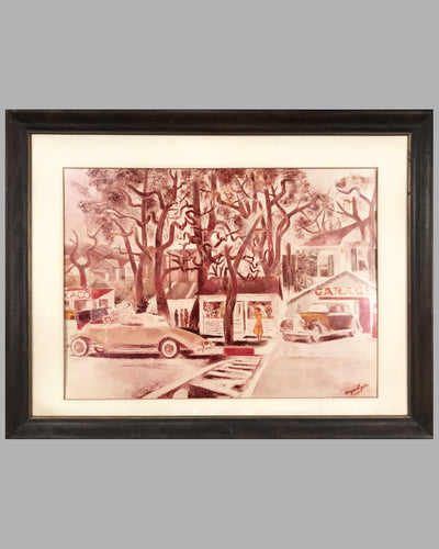 Small Town Street Scene print by Hayes Lyon