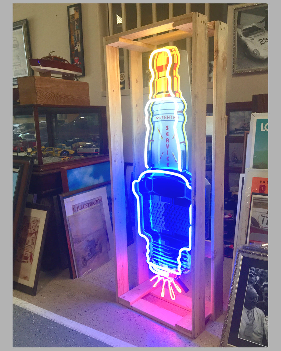 Champion Spark Plug reproduction neon sign