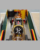 Speedway Special #12 midget racer model with trailer on trailer