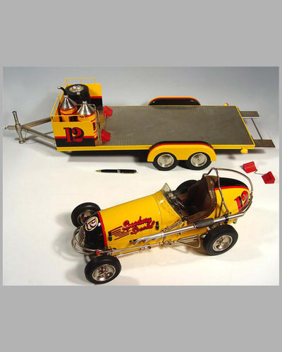 Speedway Special #12 midget racer model with trailer