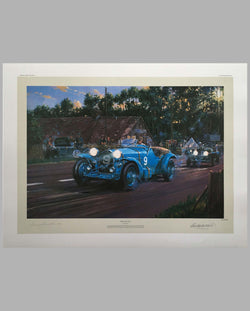 Spirit of Le Mans Print by Nicholas Watts, autographed by Luigi Chinetti Sr.