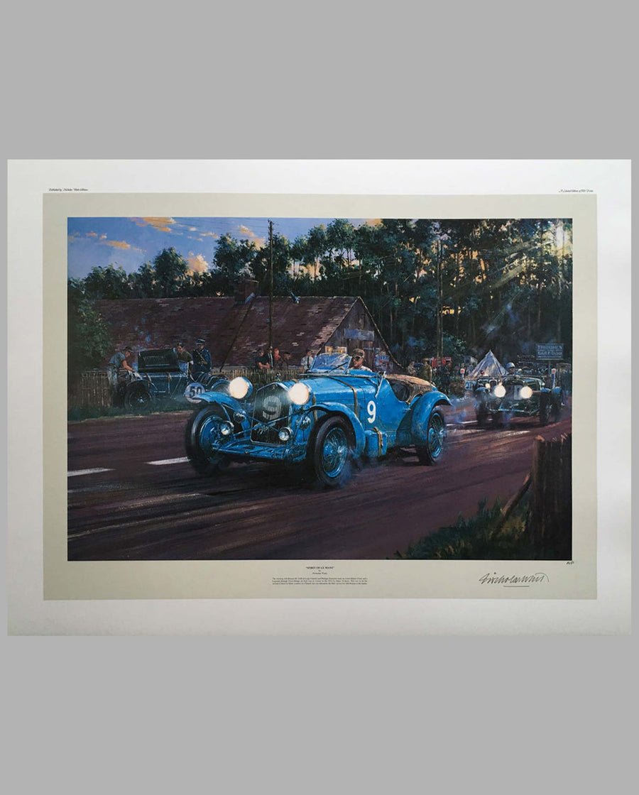 Spirit of Le Mans Print by Nicholas Watts, Limited Edition, signed