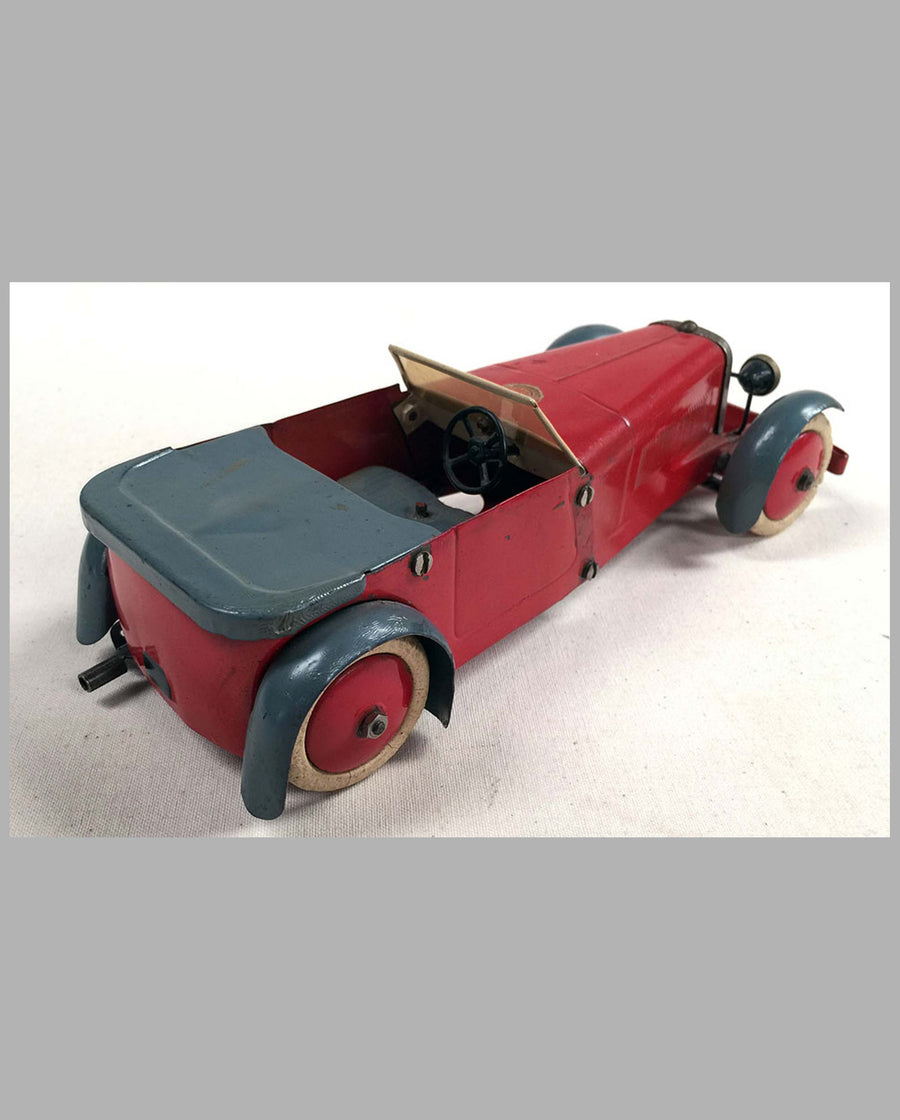 Sports Car toy #1 by Meccano (1932) U.K. back