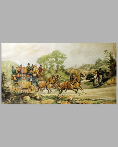 Stage Coach lithograph by Dorothy Hardy 2