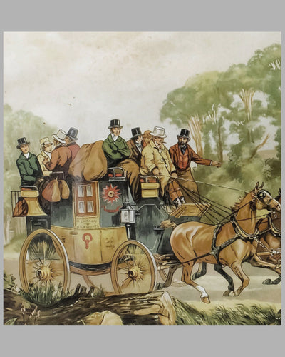 Stage Coach lithograph by Dorothy Hardy 3
