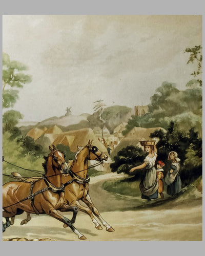 Stage Coach lithograph by Dorothy Hardy 4