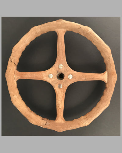 Vintage wood steering wheel