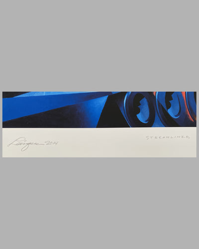 Steam Streamliner duplex giclée on paper by Alain Levesque, 2014 3