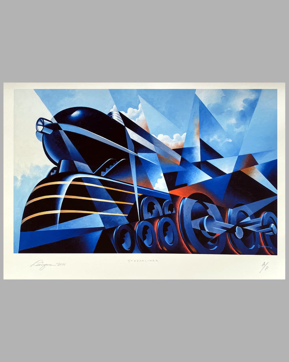 Steam Streamliner duplex giclée on paper by Alain Levesque, 2014