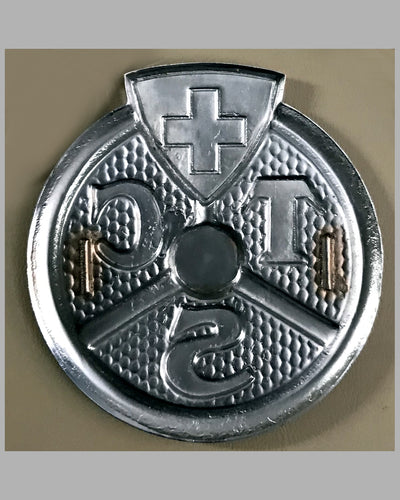 Touring Club of Switzerland badge, 1950's back