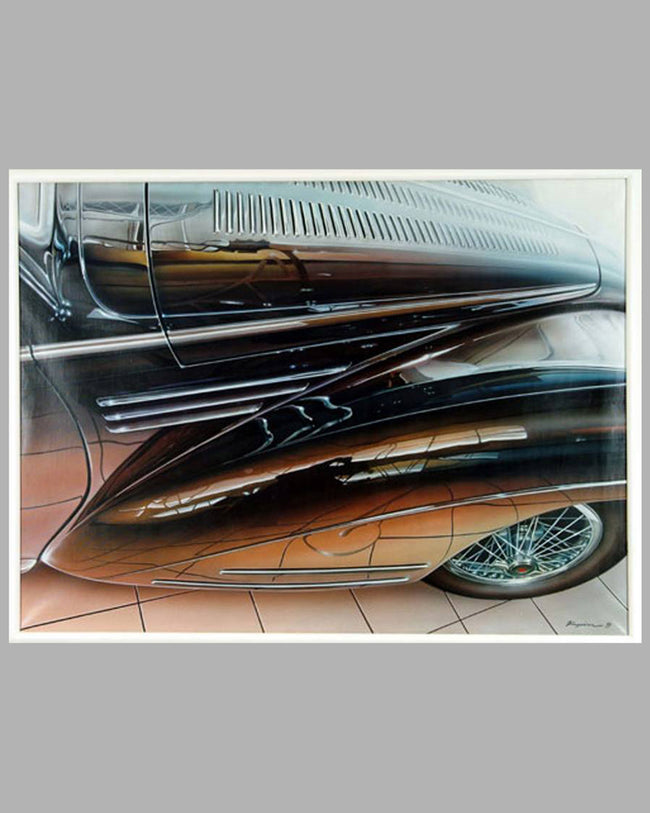 Talbot-Lago painting by Jacob Kapica