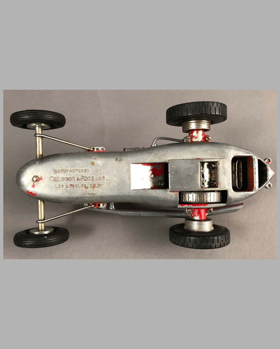 Tether Racer by Olson and Rice, California, 1950's, aluminum under
