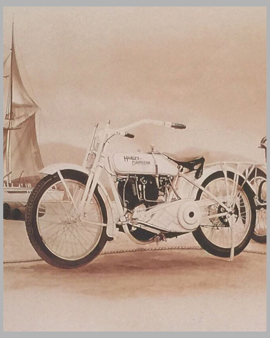 The Twenties - Harley Evolution print by Francois Bruere 3