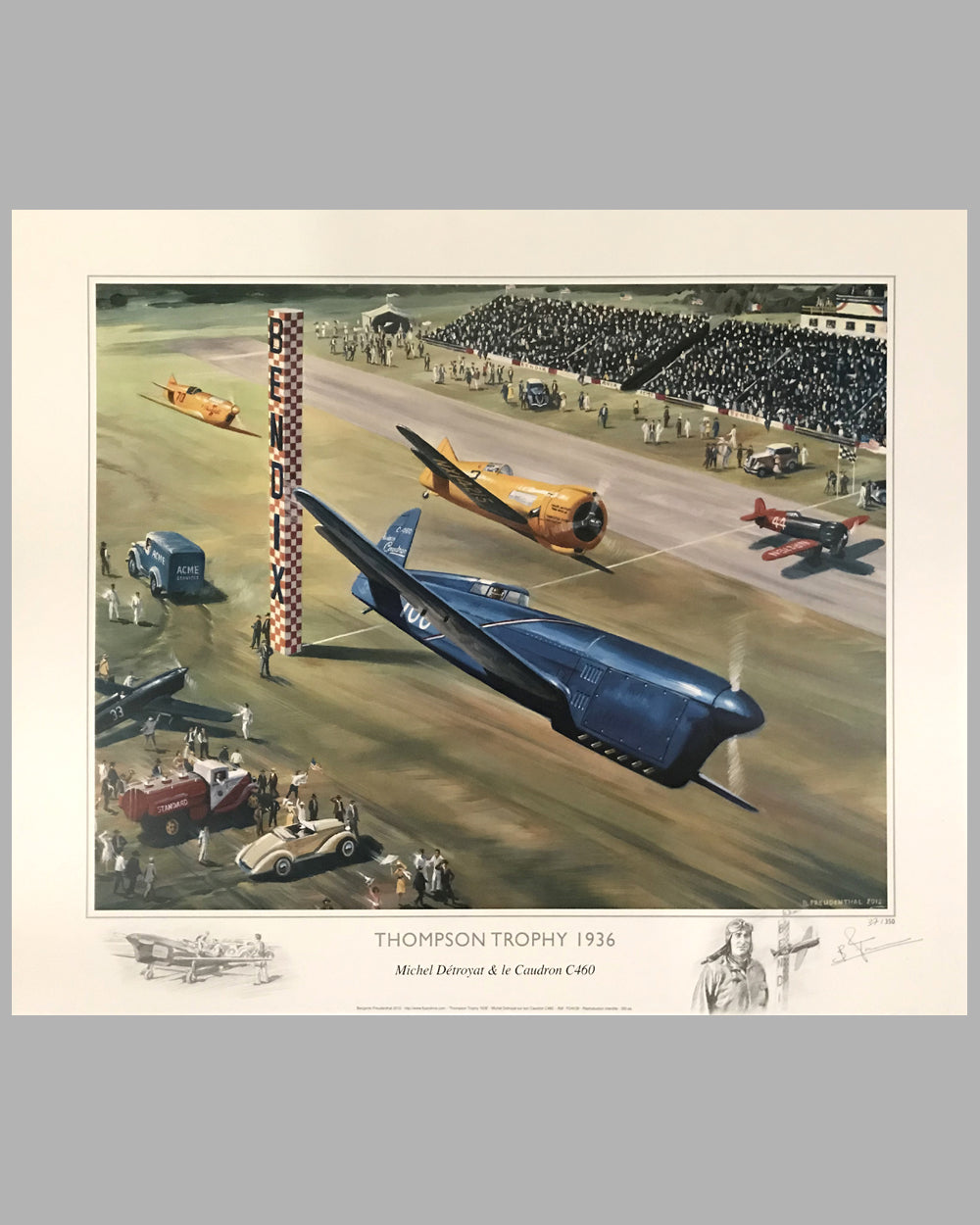 Thompson Trophy 1936 print (France), 2012, signed