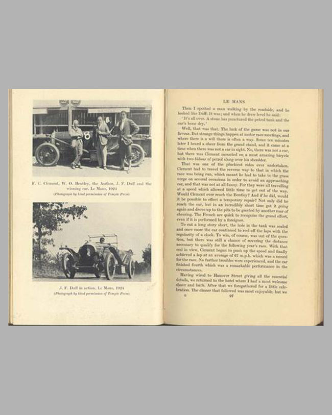 Those Bentley Days book by A.F.C. Hillstead, 1953