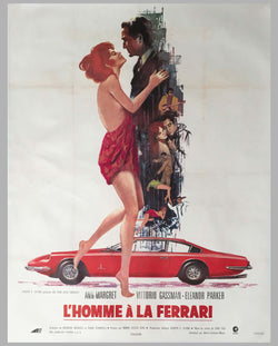 'L'Homme à la Ferrari' 1968 original French movie poster