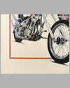 """Together Again"" painting by Harold Cleworth, 30th anniversary ""Easy Rider"", autographed by Peter Fonda 3"