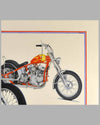 """Together Again"" painting by Harold Cleworth, 30th anniversary ""Easy Rider"", autographed by Peter Fonda 5"