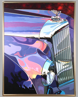 Bentley grill painting by Tom Hale