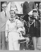 Maurice Trintignant at Monaco in 1955, autographed by Maurice Trintignant