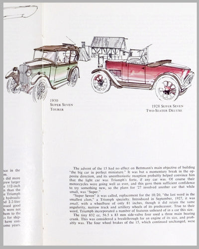 1928/30 Triumph illustrations by Harvey Winn, USA, 1972, black ink and watercolor paintings 2