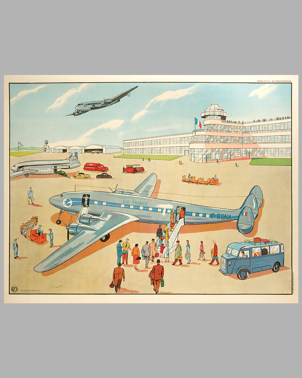 Un Terrain d'Aviation multicolor lithograph c. 1954