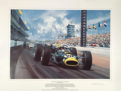 Jim Clark:  Indianapolis Champion print by Michael Turner