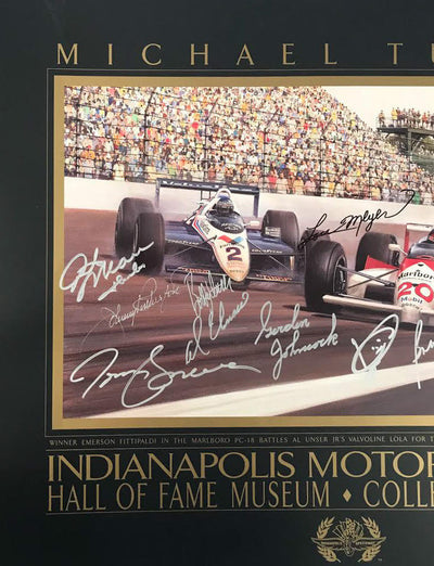 Signed 1989 Indianapolis Collectors Edition Poster by Michael Turner