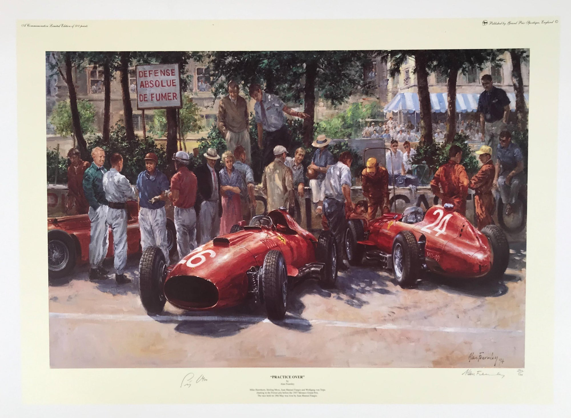 Practice Over print by Alan Fearnley Autographed by Stirling Moss - $295.00