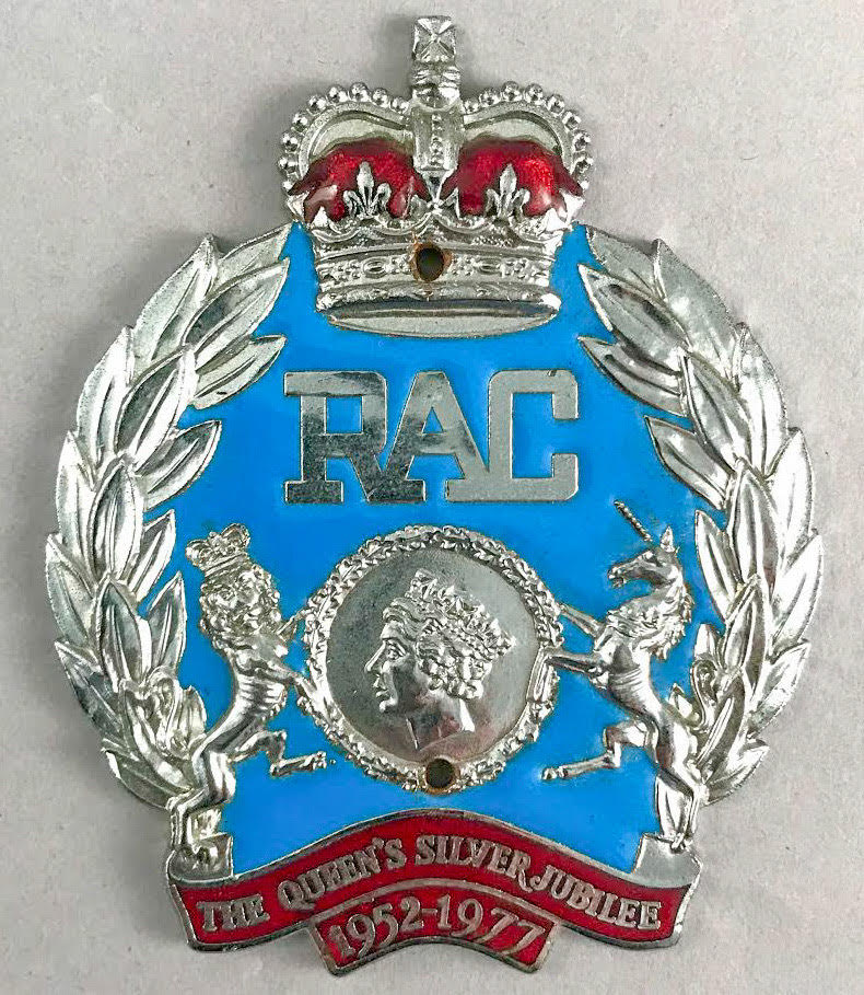 RAC Badge especially made for the Queen