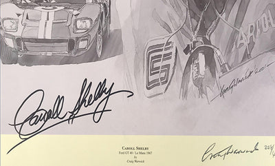 Autographed Carroll Shelby Print by Craig Warwick