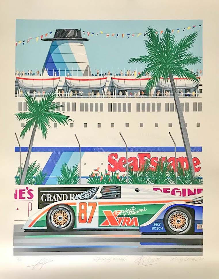 Spirit of Miami serigraph by Randy Owens - $195.00