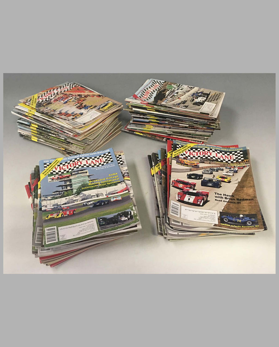 Collection of 90 Victory Lane magazines from 2005 to 2015