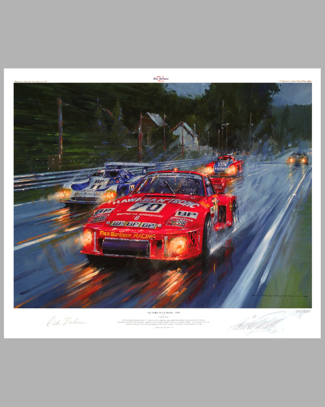 Victory at Le Mans 1979 giclee on paper by Nicholas Watts