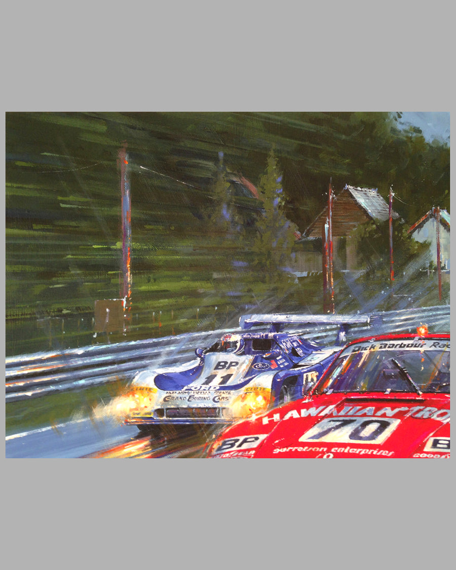 Victory at Le Mans 1979 giclee on paper by Nicholas Watts 4