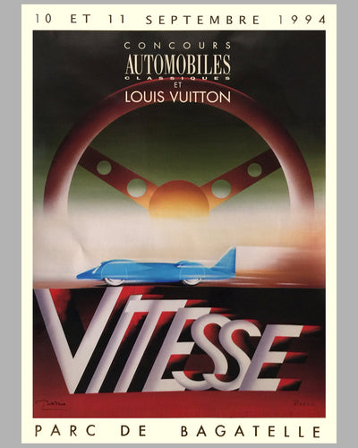 "1994 Bagatelle Concours d'Elegance ""Vitesse"" large poster by Razzia"