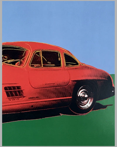 Cars by Andy Warhol - Mercedes Benz 300SL Gullwing Poster 2