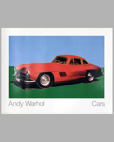 Cars by Andy Warhol - Mercedes Benz 300SL Gullwing Poster