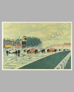 Watkins Glen 1980 serigraph by Randy Owens