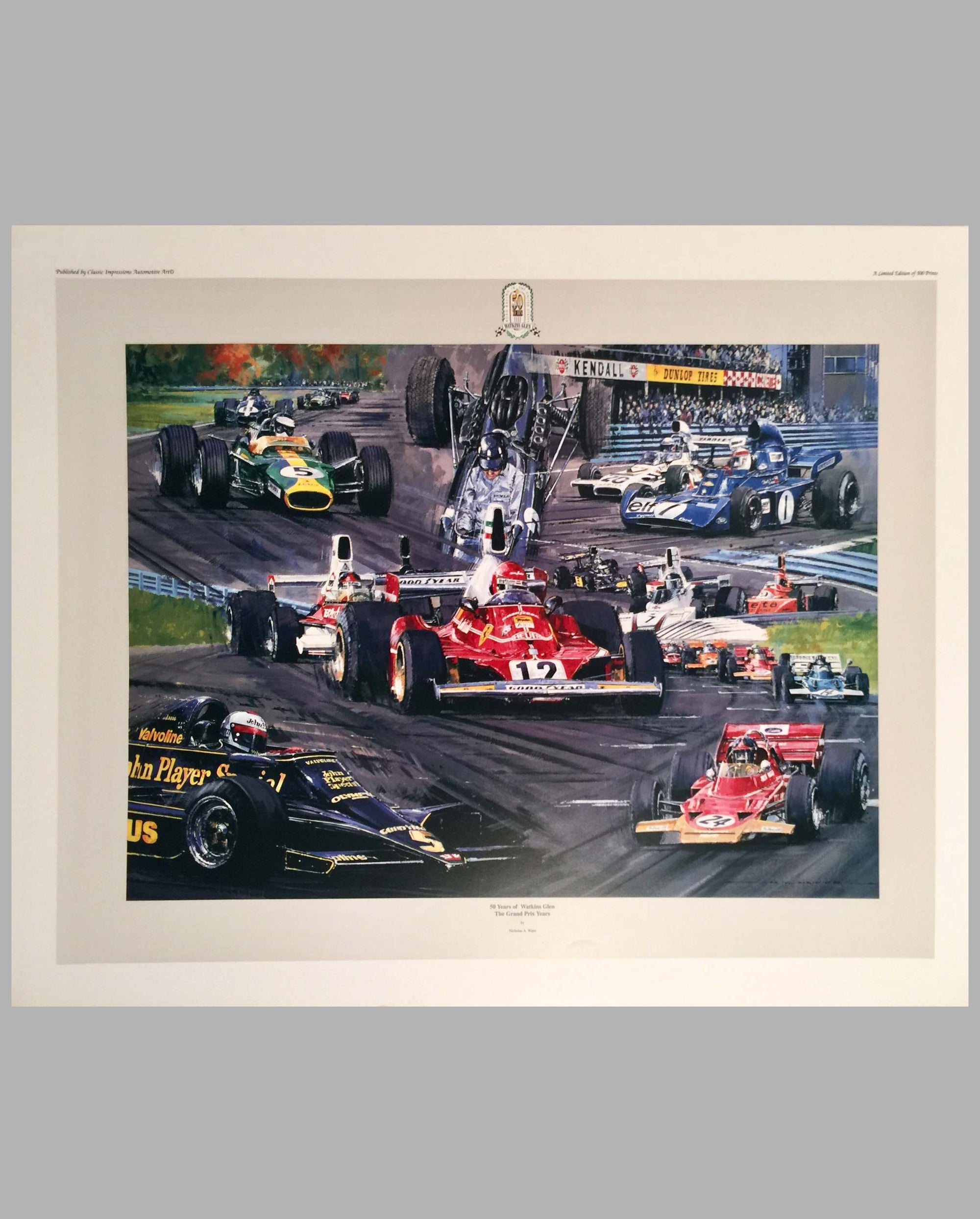 50 Years of Watkins Glen - The Grand Prix Years print by Nicholas Watts, 1998