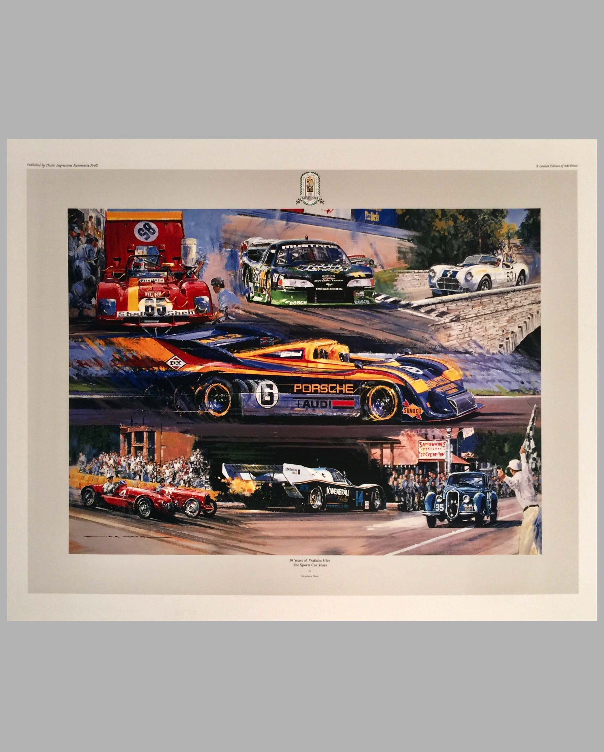 50 Years of Watkins Glen - The Sports Car Years print by Nicholas Watts, 1998