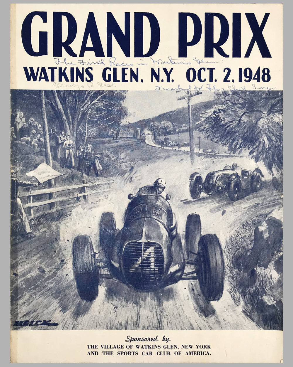1948 U.S. Grand Prix at Watkins Glen program