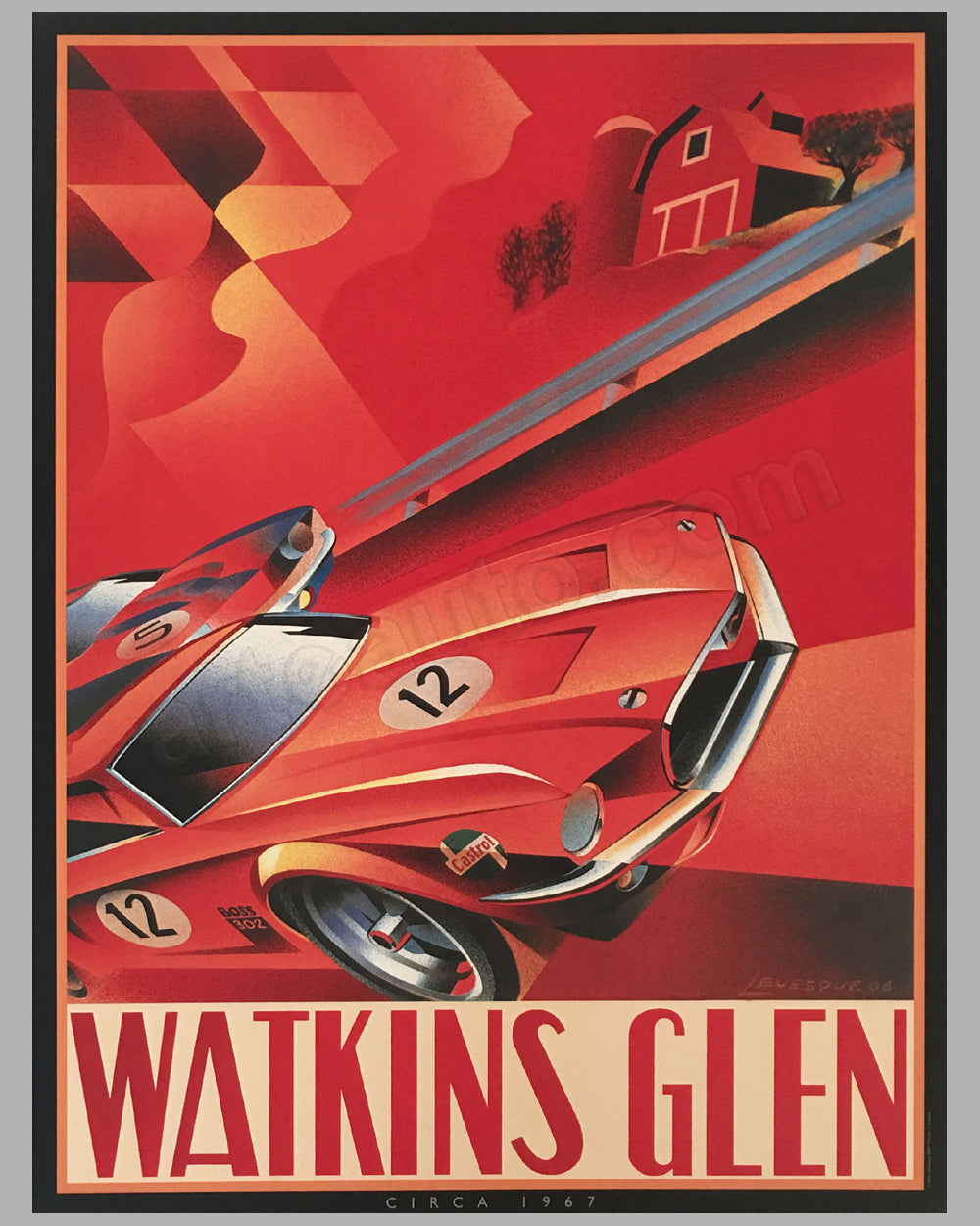 Watkins Glen poster by Alain Lévesque