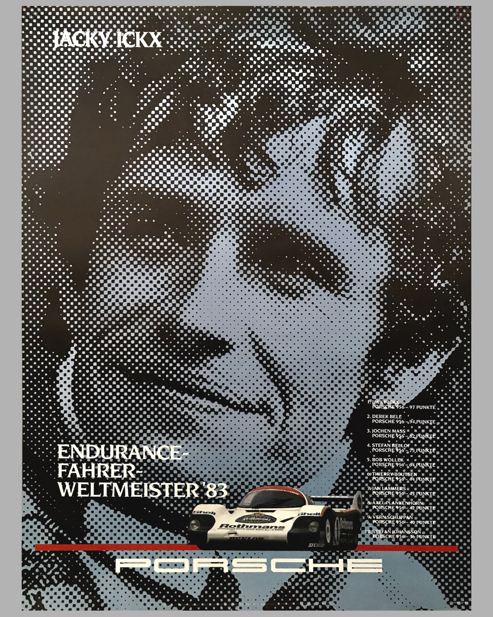 1983 World Endurance Champion Porsche Victory Poster