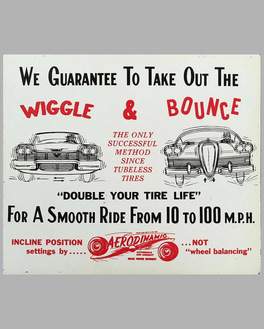 Wiggle & Bounce silkscreen metal sign by Aerodinamic