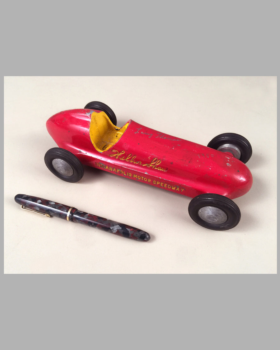 Wilbur Shaw Indianapolis Motor Speedway aluminum toy race car 2